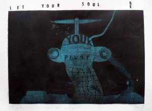 """Let your soul be your pilot"", ofortas, 2005"